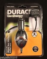 Duracell Cell Phone Car Charger Model Du5212 For Iphone, Ipad, Ipod Touch & Nano