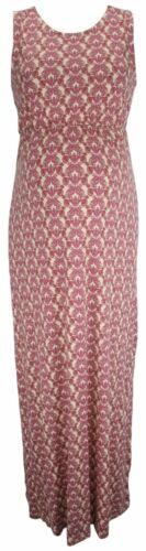 BLOOMING MARVELLOUS MATERNITY PURPLE PRINT MAXI DRESS SIZE 16 /& 18 NEW