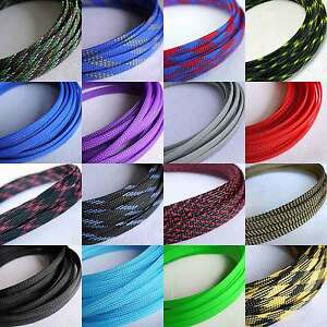 8mm Braided PET Expandable Sleeving Cable Wire Sheathing New High ...