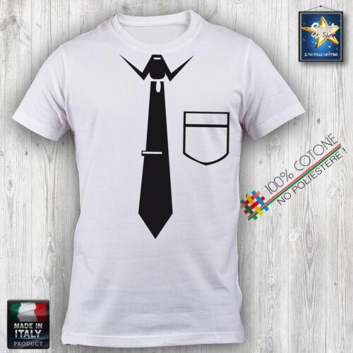T-shirt Uomo DIVERTENTE CRAVATTA TASCHINO IDEA REGALO FASHION MODA COOL