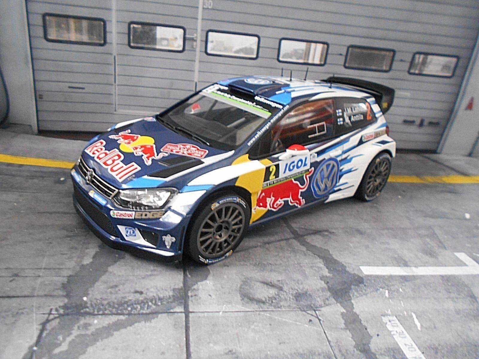VW Volkswagen Polo WRC 2016 Latvala Rally Tour de Corse TDC R Bull Ixo 1 18