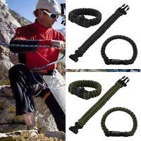 Survival Plastic Buckle Paracord Parachute Cord Camping Military Bracelet