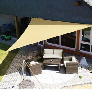 quality design 3c814 c539b Details about 3M Outdoor Sun Shelter Waterproof Awning Triangle Tent Canopy  Garden Beach