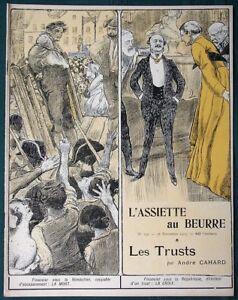 L-039-Assiette-au-Beurre-139-034-Les-Trusts-034-1903-French-Culture-Satire-Art-Magazine