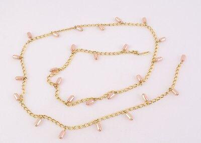 Dg285 Cintura In Metallo Oro Catene Cintura Belt Chain 70 - 85 Cm Addominale Catenella Nuovo-