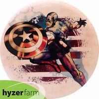 Dynamic Captain America Splatter Fuzion Truth Pick Weight Disc Golf Hyzer Farm