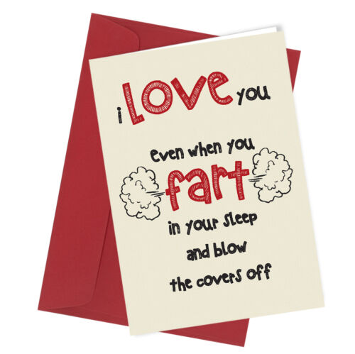 BIRTHDAY Farting in Bed Greeting Card Boy Girl HUMOUR Funny Rude #76 VALENTINE