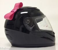 Motorcycle Helmet Bow Pink Motorcycle Accessories Helmet Not Included