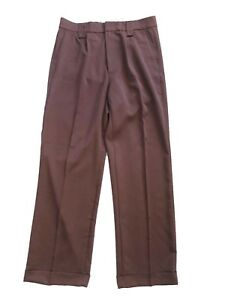 Mens-1940s-Swing-Vintage-Style-Brown-Fishtail-Look-Trousers-With-Turn-Up-Hems