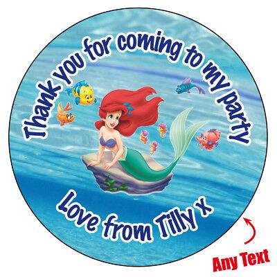 Personalised Mermaid Ariel Birthday Party Big Badge Magnet Mirror Opener 334