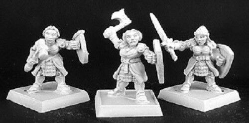 Dwarf Shield Maidens x 9 Reaper Miniatures Warlord Female Dwarves Fighter Melee
