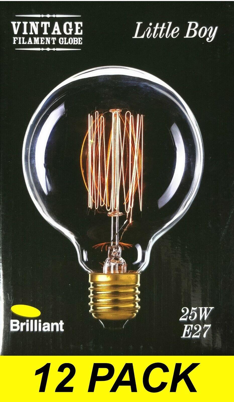 12 X 25W G95 lámparas Bombillas de filamento Luz Globos Vintage E27 Tornillo es regulable