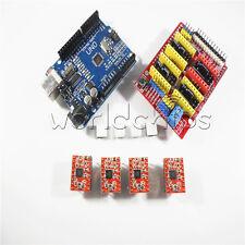 Uno R3 CH340 + 4x A4988+CNC V3.0 shield + 4x heatsink For Arduino Compatible W