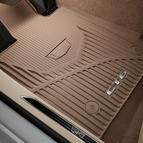 2016-2019 Cadillac CT6 GM Front /& Rear All Weather Floor Mats Maple 84025490