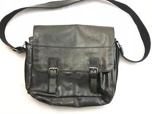 Fossil-Brand-Mens-Leather-Business-Laptop-Messenger-Shoulder-Bag