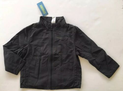 NWT Gymboree BMX Racer 3-4 Charcoal Gray Jersey Lined Motorcycle Jacket XS 3T-4T