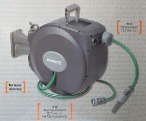 automatischer-Schlauchaufroller-mit-20m-Gartenschlauch-Schlauchroller-Neu