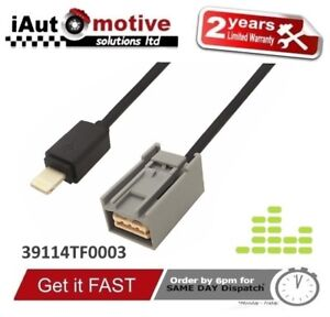 AUX-Adapter Audiokabel f/ür Honda Accord Civic CRV Apple iPhone iPod 3,5 mm Buchse