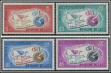 LAOS N°142/145* Semaine de la lettre écrite TB, 1966, Sc #137-140 MH