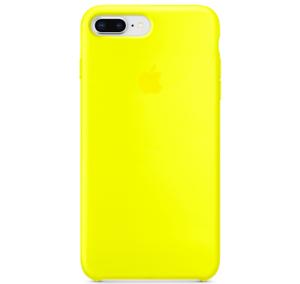 iPhone-8-7-PLUS-Apple-Original-Echt-Silikon-Schutz-Huelle-Gelb-Blitz