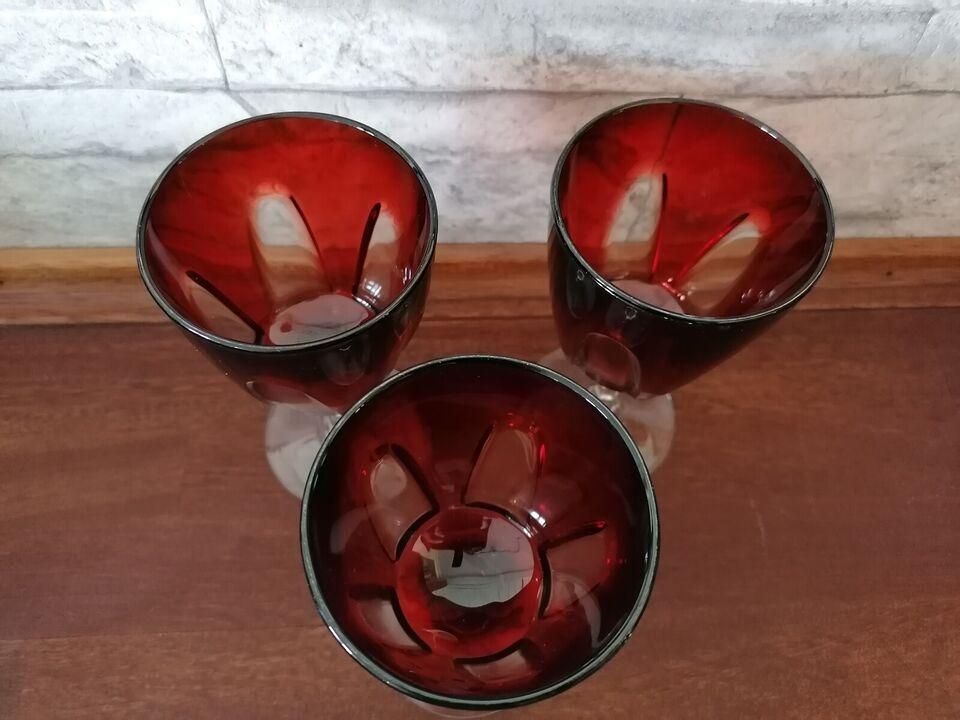Glas, Franske rødvinsglas, 3 hvidvin