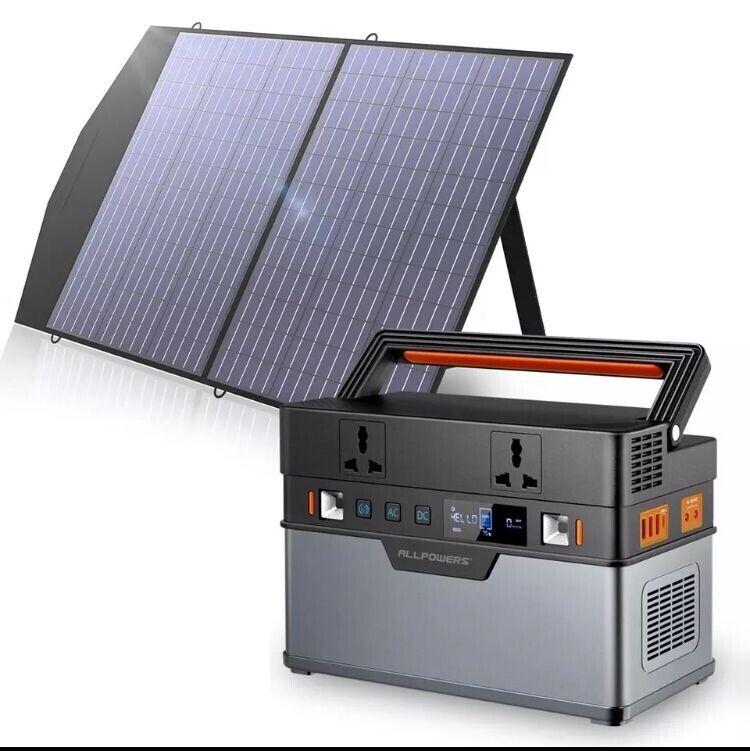 Generador Solar portátil, de 606WH/164000mAh con panel solar plegable de 18V100W