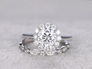 2-35Ct-CertifIed-White-Round-Diamond-Engagement-Wedding-Fine-Ring-Sets-14K-Gold