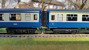 12-x-00-Gauge-4mm-Bachmann-Hornby-MK2-Mark2-Corridor-Connector-Bellows-BR-BLUE