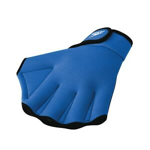 Speedo-Swimming-Aqua-Fit-Training-Exercise-Swim-Gloves-Large-Royal
