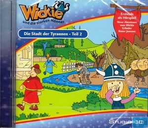 CD-WICKIE-u-die-starken-Maenner-Die-Stadt-der-Tyrannen-2-Hoerspiel-Kinder