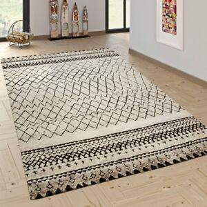 Designer teppich modern skandinavisch trend zick zack muster schwarz creme ebay - Teppich schwarz weiay zick zack ...
