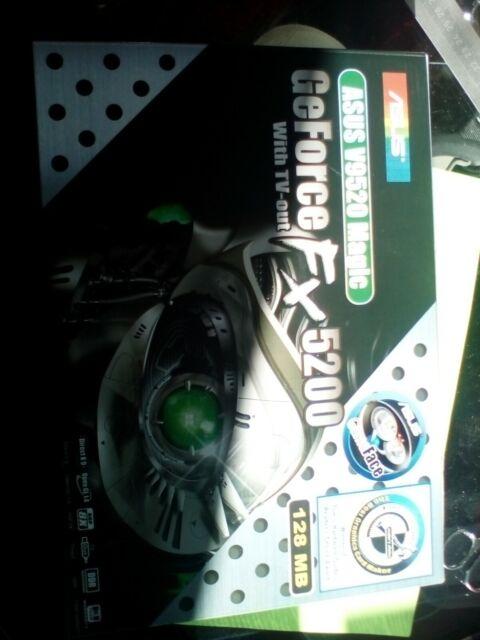 ASUS V9520 Magic/T GeForce FX5200 (128 MB) (V9520 MAGICT128MB) Graphics Card NEW