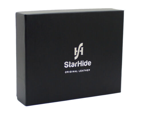 StarHide Mens RFID Leather Billfold Wallet ID Card /& Coin Holder 1216 Black Red