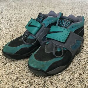 sports shoes 21619 186a6 Image is loading Youth-Nike-Air-Diamond-Turf-2010-strap-green-