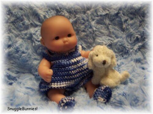 "SnuggleBunnies LIL BOY BLUEs BUBBLE ROMPER FITS 5/"" BERENGUER REBORN OOAK BABY!"