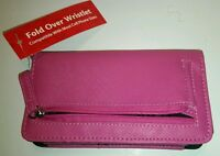 Zippered Change Purse/credit Card Wallet & Universal Smartphone Case, New-pink
