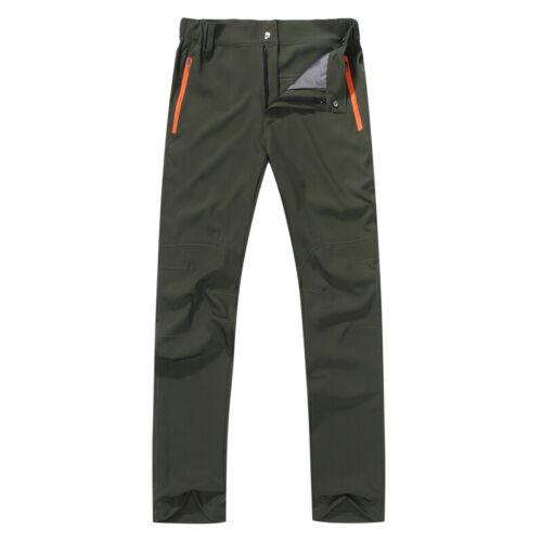 Outdoor Men Tactical Windproof Waterproof Pants Quick Dry Hiking Cargo Trousers