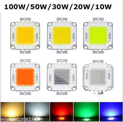 SMD LED White Super Bright Chip High Power Lamp Floodlight Bulb 10/20/30/50/100W