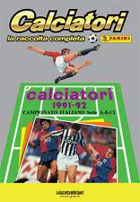ALBUM PANINI CALCIATORI LA RACCOLTA COMPLETA 1991-92 1992 GAZZETTA DELLO SPORT