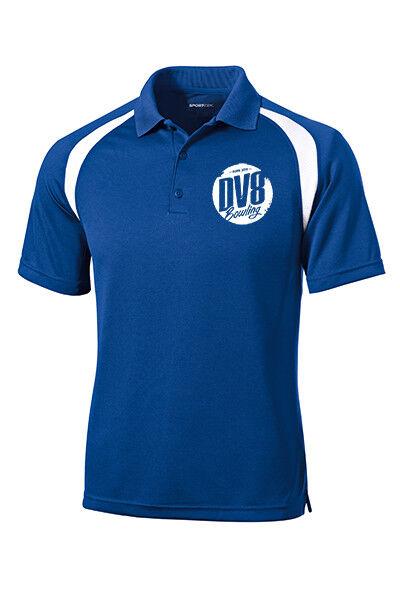 DV8 Men's Thug Performance Polo Bowling Shirt Dri-Fit Royal