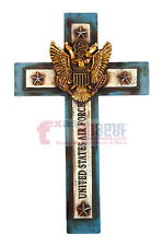 United States Air Force Decorative Wall Cross Eagle Shield Religious Military