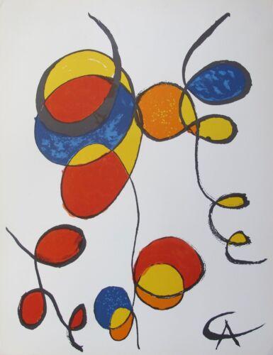 Alexander Calder Spirales 1970 Plate Signed Lithograph Art