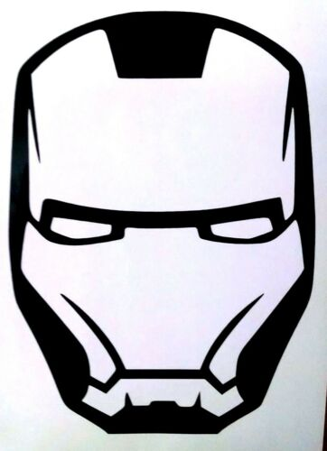 Iron Man Mask Avengers Cool Car Truck Window Vinyl Decal Sticker in 12 Colors