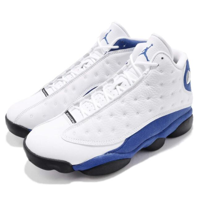 3918b08a3c8bb Nike Air Jordan 13 Retro XIII Hyper Royal White Black 2018 Men PE 414571-117
