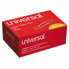 Universal Smooth Paper Clips Wire Jumbo Silver 1000pack 72220