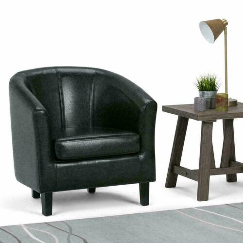 Bonded Leather Tub Chair Armchair Sofa Seat For Dining Living Room Office Home Black,Brown,Cream