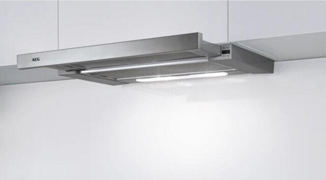 AEG DPB5652M Flachschirmhaube Drucktasten LED-Beleuchtung mit Frontblende Abluft