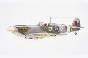 Supermarine-Spitfire-British-Fighter-Aircraft-Art-Print-Poster-18x12-inch