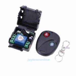 Funk-Wireless-Relais-RF-12V-10A-433MHz-Fernbedienung-Schalter-Sender-Empfaenger