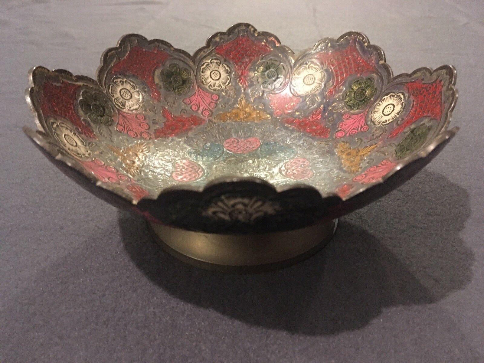 Decorative in ottone CIOTOLA PER FIORI ARTE INDIANA